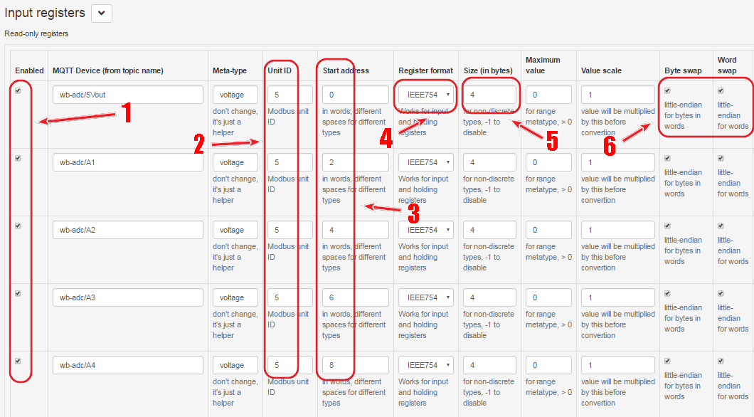 Настройка шлюза Modbus TCP <> MQTT на WirenBoard / База знаний